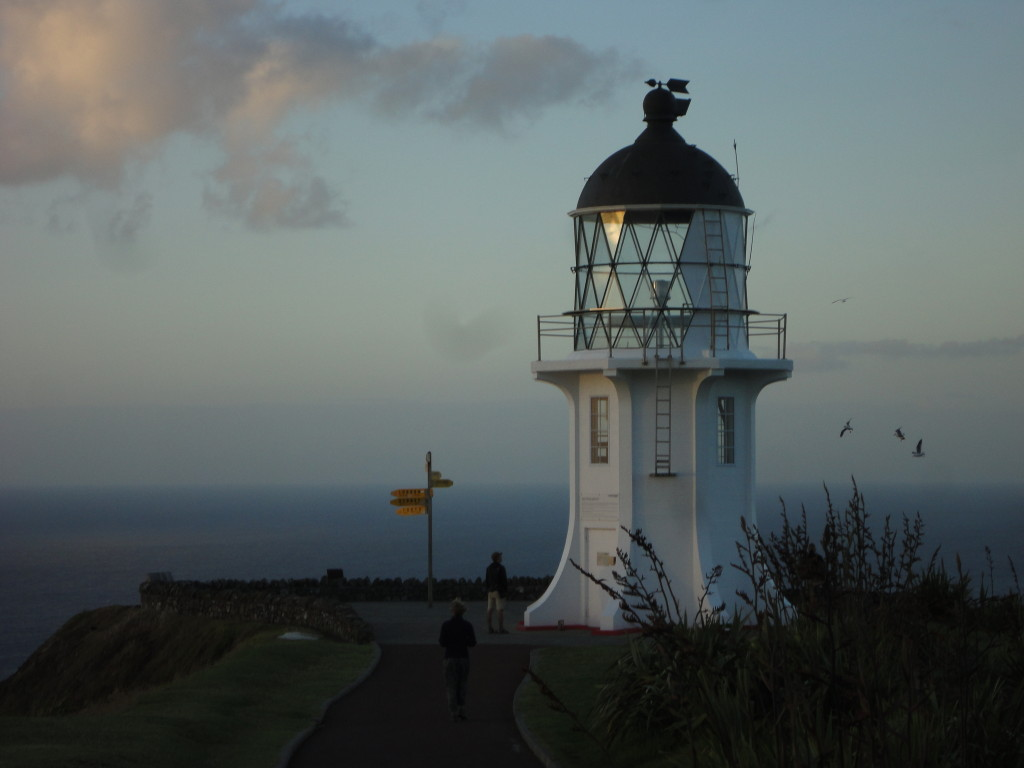 Watching oceans collide at Cape Reinga