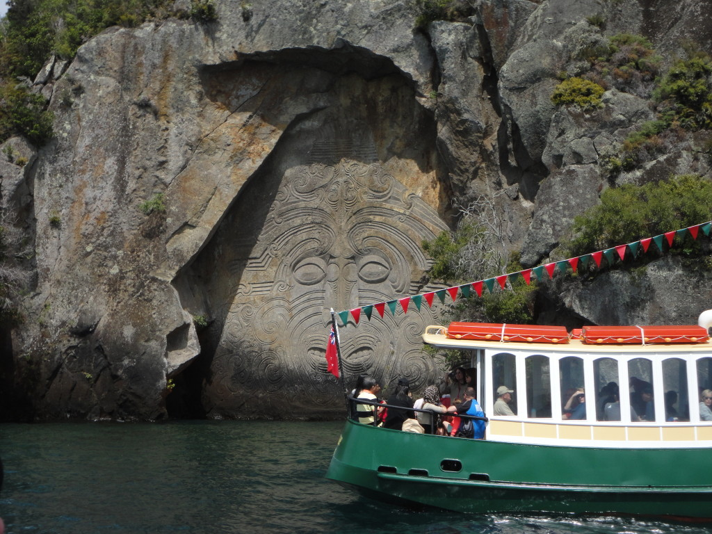 The Maori carvings at Lake Taupo