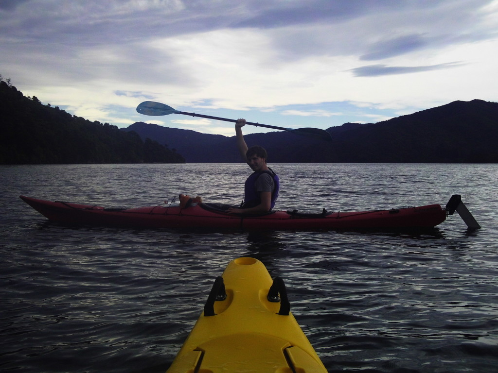 Kayaking in Queen Charlotte Sound, part of the Marlborough Sounds