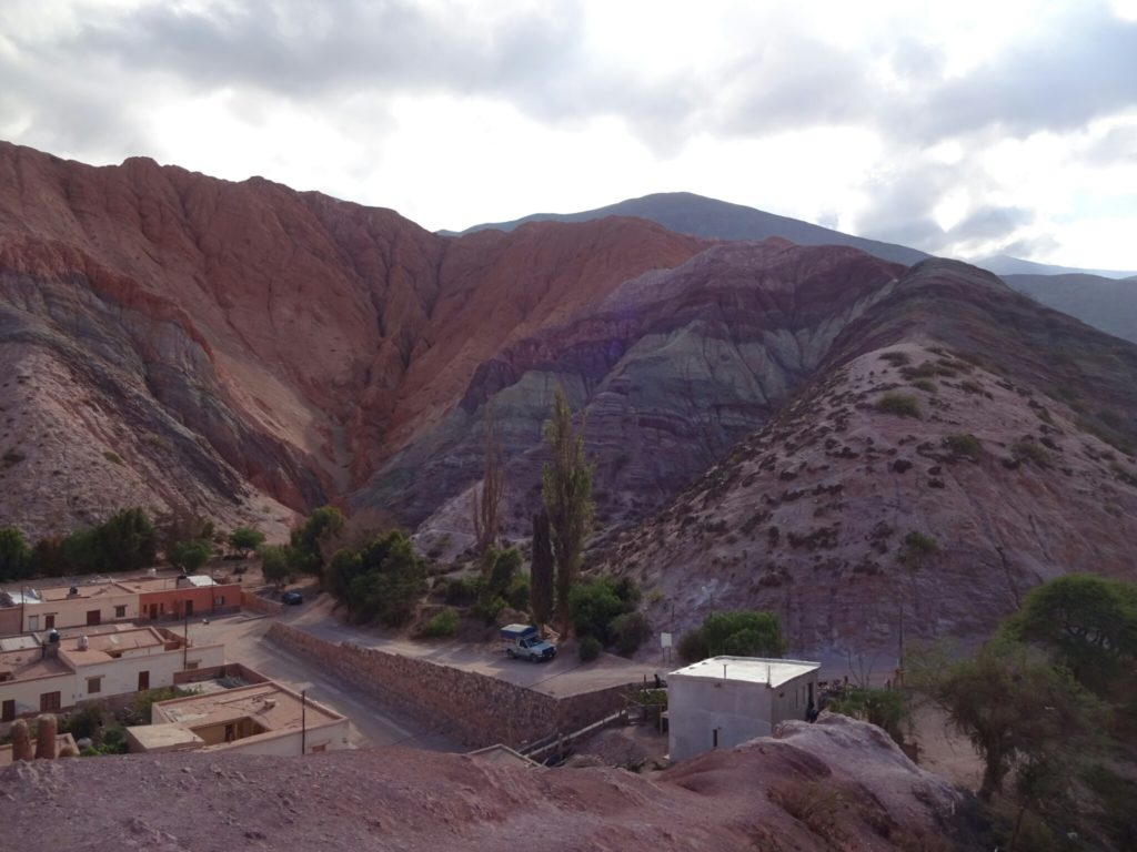 The seven-colored hill of Purmamarca