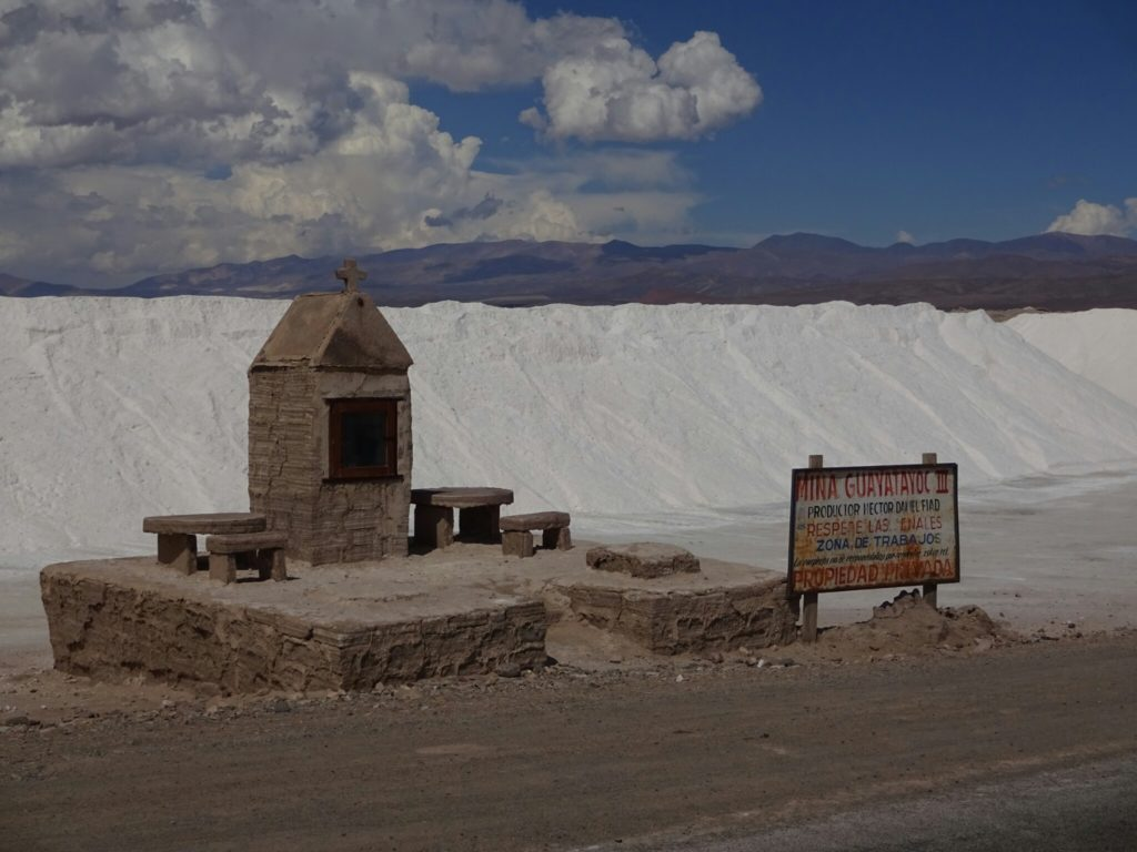 ...deposit the salt in one of the big salt lakes where it is gathered mechanically