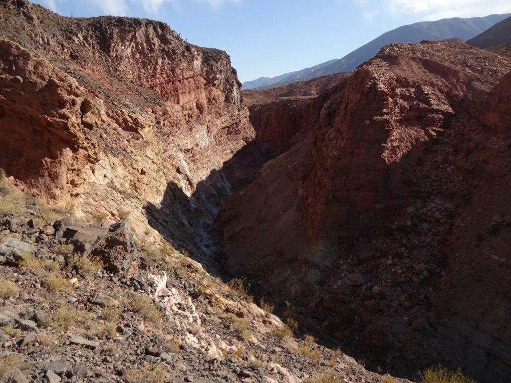 """The canyon at """"Puente del Diablo"""""""